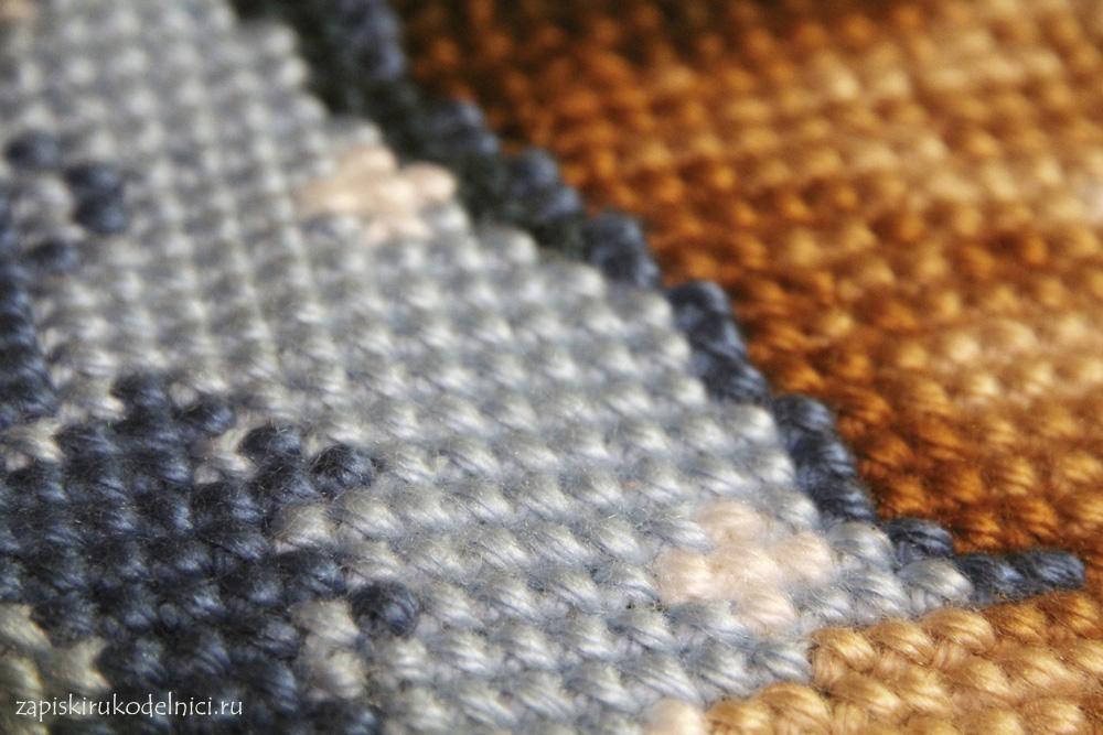 Вышивка крестик шерстяными нитками