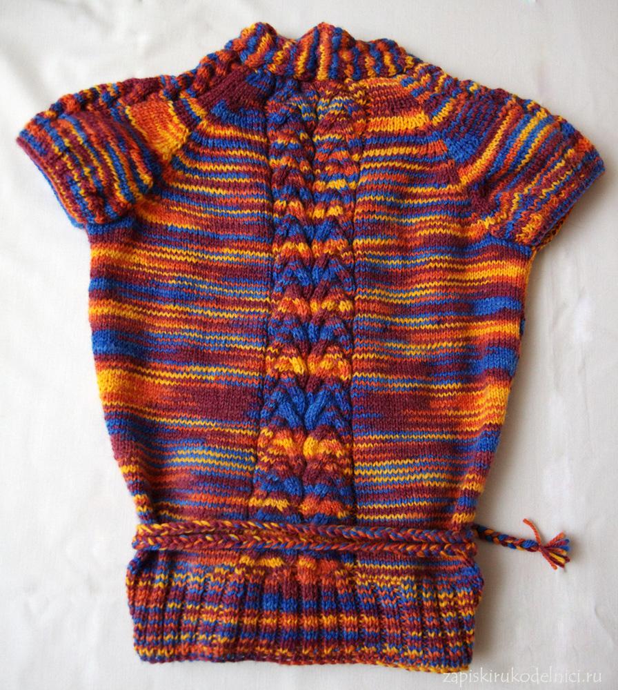 Вязание из пряжи меланж спицами 46