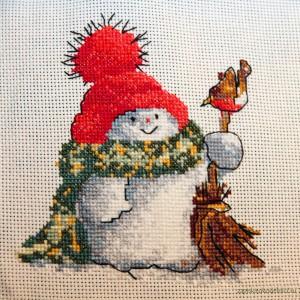 """Вышивка """"Снеговик"""""""