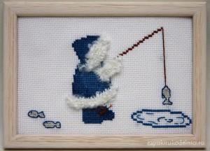 Вышивка Рыбак